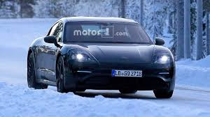 porsche 911 snow porsche mission e spied in the snow