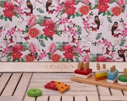 japanese sparrow u0027 floral hand drawn designer removable peel and