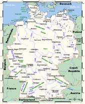 geographical map of germany geography of germany