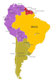 map r south america political map y p andean r guianas