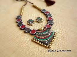 handmade necklace patterns images Pin by spandana reddy sappidi on terracotta jewellery pinterest jpg