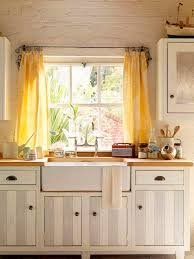 Fabric For Kitchen Curtains Furniture Country Kitchen With White Kitchen Counter And Solid