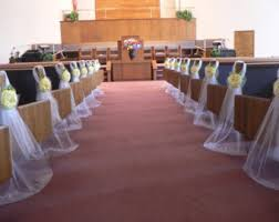 Pew Decorations For Wedding Sunflowers Sunflower And Denim Pew Bow Sunflower By Onefunday My