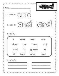 first grade fry words 1 25 sight word practice worksheets by amy ginn