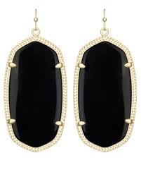 kendra scott black friday the chic danielle gold earrings in black are a kendra scott