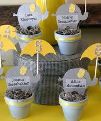 yellow baby shower ideas elephant themed baby shower decorations and more baby shower