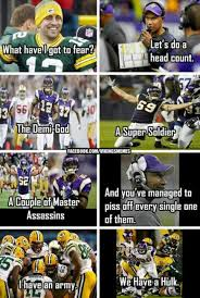 Funny Packers Memes - vikings vs packers meme this is awesome and would have been better