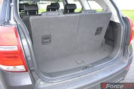 nissan micra luggage space 2014 holden captiva 7 luggage space with 3rd row seat up forcegt com