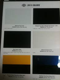 2013 color chart harley davidson forums