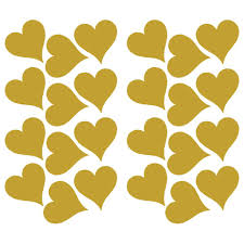 roommates gold foil hearts peel and stick wall decals 3 3 inch x