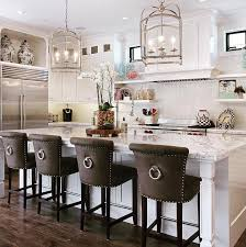 kitchen islands with bar stools barstools enhance this traditional kitchen 18 stylish