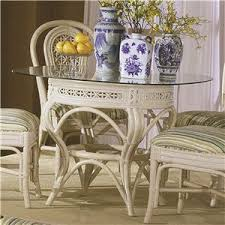 Rattan Kitchen Table by Capris Furniture 341 Collection Casual Wicker Rattan Upholstered