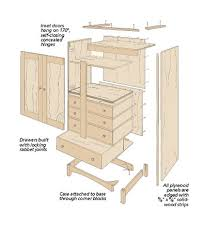 Armoire Furniture Plans Bedroom Armoire Woodsmith Plans