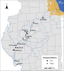 Illinois River Map Impact Of Human Activities To Hydrologic Alterations On The