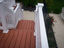 vinyl deck railing for your deck u0027s safety and beauty amazing home