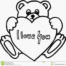 teddy bear heart coloring pages 305442