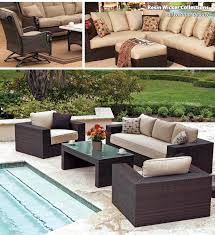 incredible woven patio furniture backyard design pictures rattan