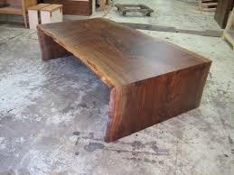 waterfall coffee table wood 2 claro walnut live edge waterfall coffee table for the home