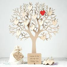 large wedding guest book wishing tree large wooden guest book by craft heaven