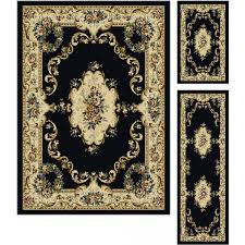 Round Traditional Rugs Tayse Laguna 4613 Charcoal 5 Ft 3 In Round Traditional Area Rug