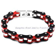 mens black link bracelet images Newest design fashion jewelry 316l stainless steel silver gift jpg