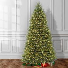 mercer41 fir 12 u0027 hinged green artificial christmas tree with 1500