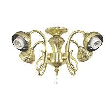 Bright Ceiling Fan Light Shop Harbor 4 Light Bright Brass Ceiling Fan Light Kit At