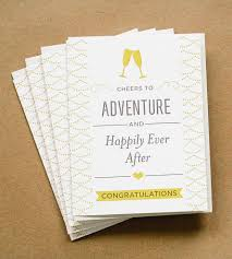 cheers to adventure wedding card set of 5 wedding card