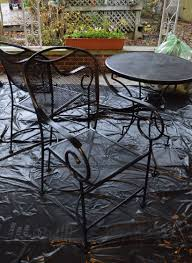 restore metal outdoor furniture