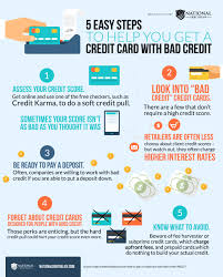 prepaid credit card to build credit 5 steps bad credit infographic save money infographic jpg