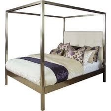 Upholstered Canopy Bed Modern Canopy Beds Allmodern