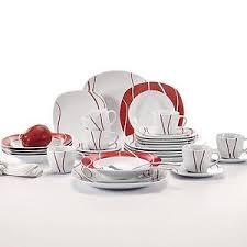 felisa 18 pieces porcelain crockery ceramic dinner service