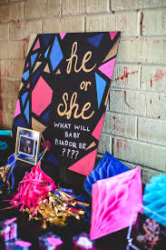 reveal baby shower kara s party ideas geometric gender reveal baby shower kara s