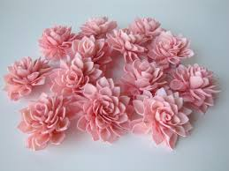 sola flowers pink dahlia sola flowers set of 12 folded sola flowers sola
