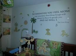 Diy Baby Nursery Decor by Diy Nursery Decor Adhesive Quote From Lion King Vinyl Decal