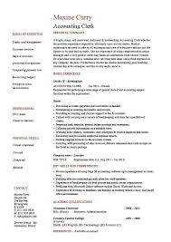 Example Qualifications For Resume by Accounting Clerk Resume Sample Example Job Description