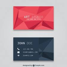 polygonal business card templates vector free