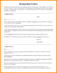 Sample Of Resignation Letters From Jobs Nurse Resignation Letter Examples