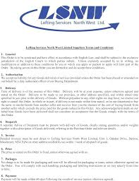 Terms And Conditions 5 Suppliers Terms U0026 Conditions Lofting Services