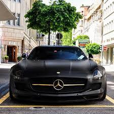 mercedes black car player special in zurich mercedes sls matt black