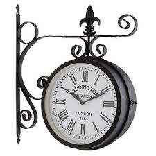 large outdoor indoor garden wall clock vintage battery operated