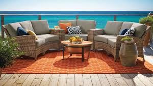 furniture beauteous design ideas using round brownn rattan tables