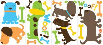 love dog wall sticker set