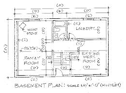 drawing of floor plan basement floor plan drawing requirements