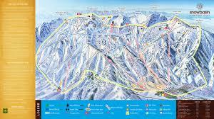 Ski Utah Map by Snowbasin Skimap Org