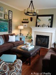 Decorating With Brown And Blue  Best Brown And Tiffany Blue - Brown living room decor