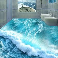 aliexpress com buy custom floor mural ocean seawater bathroom