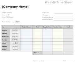 weekly timesheet template with tasks and overtime