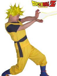 Super Saiyan Costume Halloween Halloween Christmas Free Shipping Dragon Ballz Son Goku Super