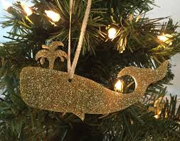 whale christmas ornament coastal christmas ornament